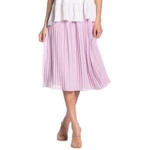Naked Zebra Emillie Pleated Lavender Midi Skirt